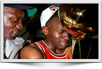 Michael Jordan Wins First NBA Championship